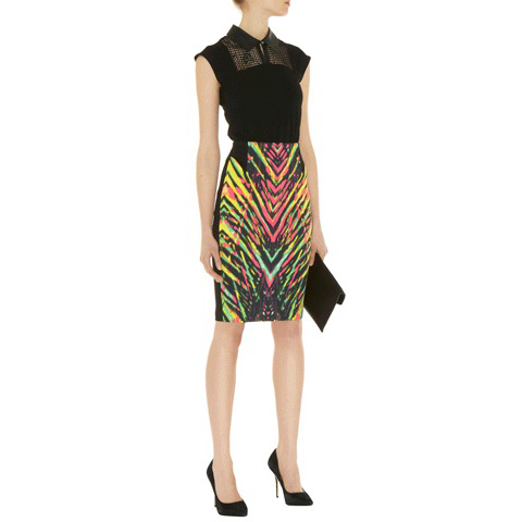 KAREN MILLEN STATEMENT ZIG ZAG SKIRT