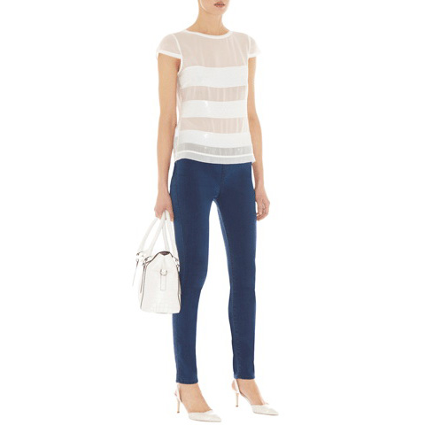 KAREN MILLEN SEQUIN STRIPE TOP