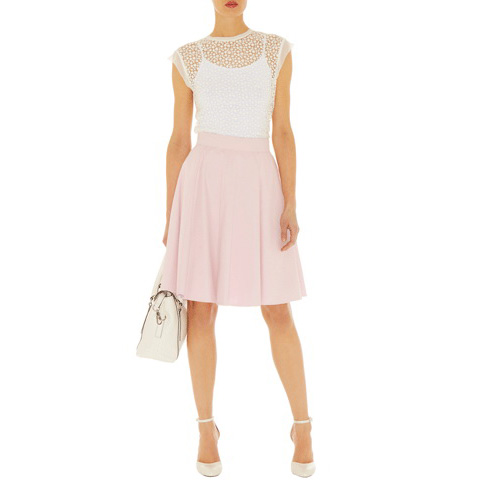 KAREN MILLEN COTTON SKIRT