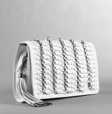 Kenneth Cole New York Fem Gladiator Clutch WHITE