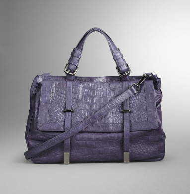 Kenneth Cole New York Strap Aside Satchel GRAPE