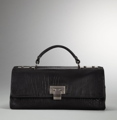 Kenneth Cole New York Boxing Day Flap-Top Satchel BLACK