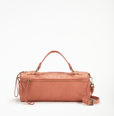 Kenneth Cole New York Square Dance Satchel CORAL