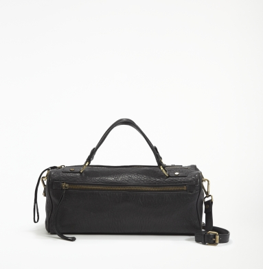 Kenneth Cole New York Square Dance Satchel BLACK
