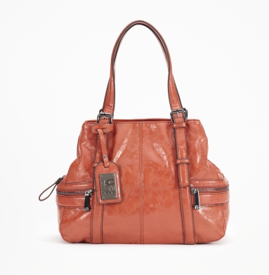 Kenneth Cole Reaction Mercer Street Satchel ORANGE