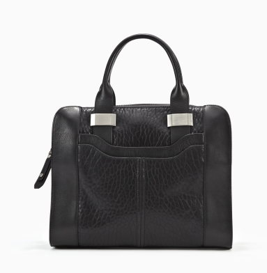 Kenneth Cole New York Slide Over Satchel BLACK