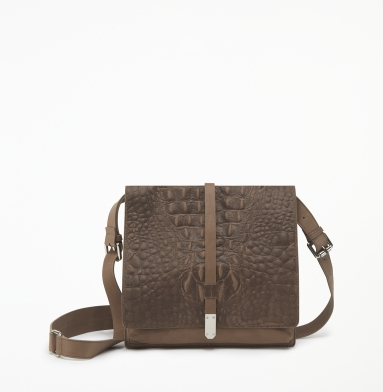 Kenneth Cole New York Hard Knocks Cross-Body Bag WALNUT