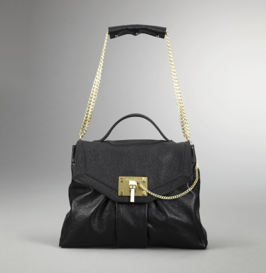 Kenneth Cole New York Linked In Flap-Top Bag BLACK