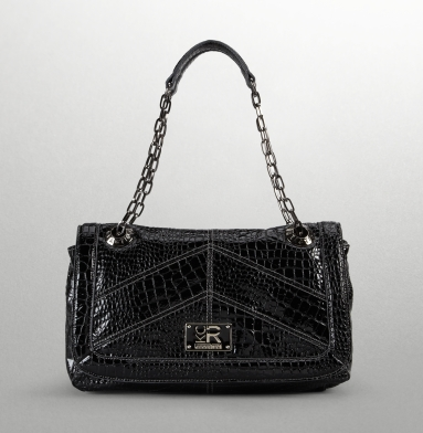 Kenneth Cole Reaction Mercer Street Flap-Top Bag BLACK CROCO