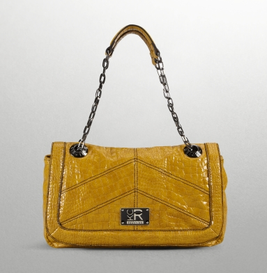 Kenneth Cole Reaction Mercer Street Flap-Top Bag MUSTARD