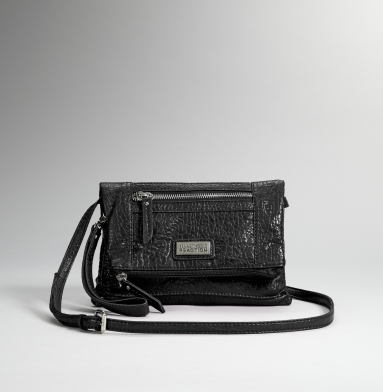 Kenneth Cole Reaction Mini Path Cross-Body Bag 08-BLACK