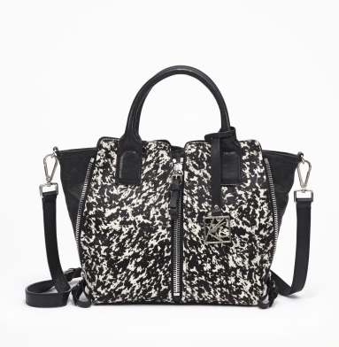 Kenneth Cole New York Tote-Al Expanse Mini Bag BLACK/WHITE