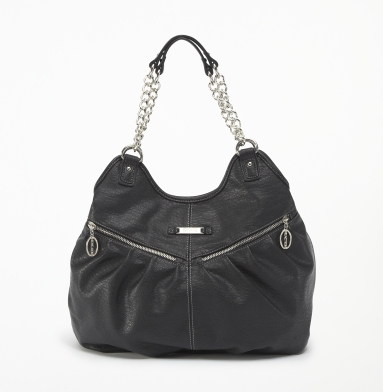 Kenneth Cole Reaction Zip-Time Tote BLACK