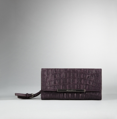 Kenneth Cole New York Handle It Over Clutch Wallet BURGUNDY