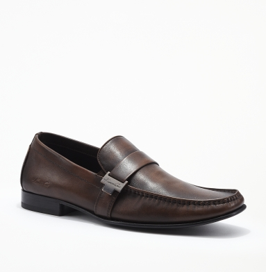 Kenneth Cole New York Florence Leather Loafer BROWN