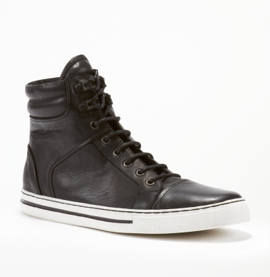 Kenneth Cole New York Double Header Sneaker BLACK/WHITE