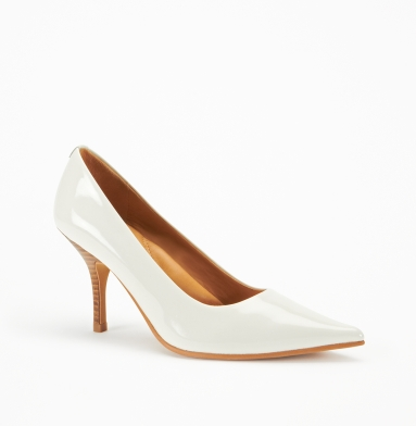 Kenneth Cole New York Stay Here Pump WHITE