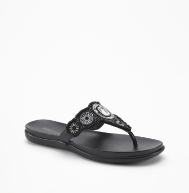 Kenneth Cole Reaction Glam Stud Sandal BLACK