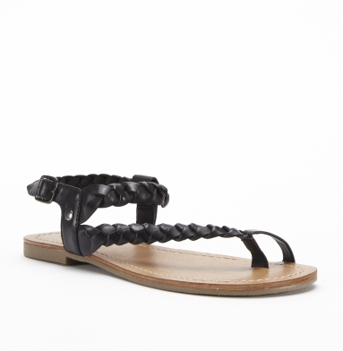 Kenneth Cole Reaction French Braid Sandal BLACK