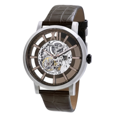 Kenneth Cole New York Automatic Watch With Iron Brown Accents
