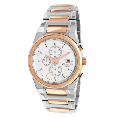 Kenneth Cole New York Silver and Rose Gold Watch