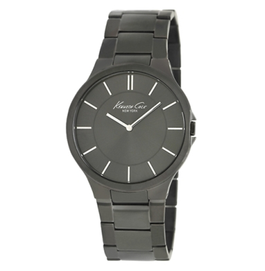 Kenneth Cole New York Gunmetal Watch With Link Strap