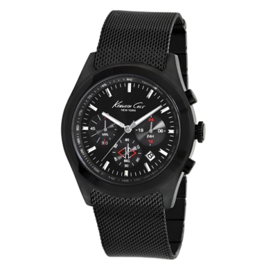 Kenneth Cole New York Black Watch With Mesh Strap