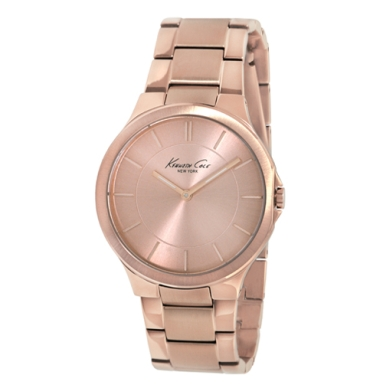 Kenneth Cole New York Rose Gold Watch With Link Strap