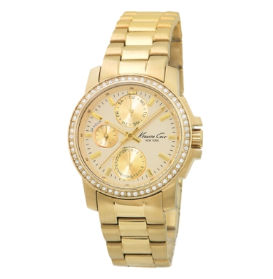 Kenneth Cole New York Multifunction Watch With Gold Link Strap