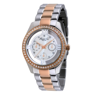 Kenneth Cole New York Multifunction Watch With Silver And Rose Gold