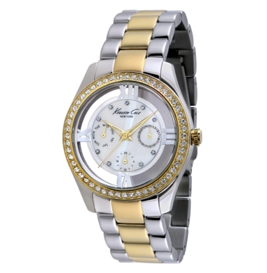 Kenneth Cole New York Multifunction Watch With Silver And Gold
