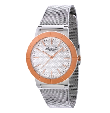 Kenneth Cole New York Slim Watch With Silver Mesh Strap