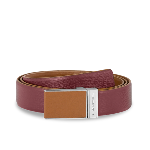 Lancel Men's Belt CHESTNUT / BURGUNDY