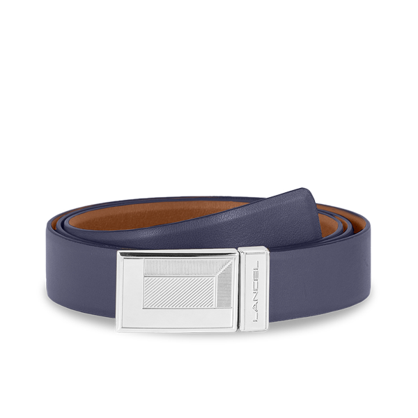 Lancel Men's Belt PRUSSIAN BLUE / CHESNUT