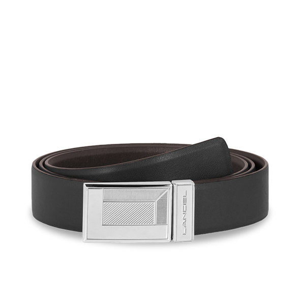 Lancel Men's Belt BLACK/MOCHA