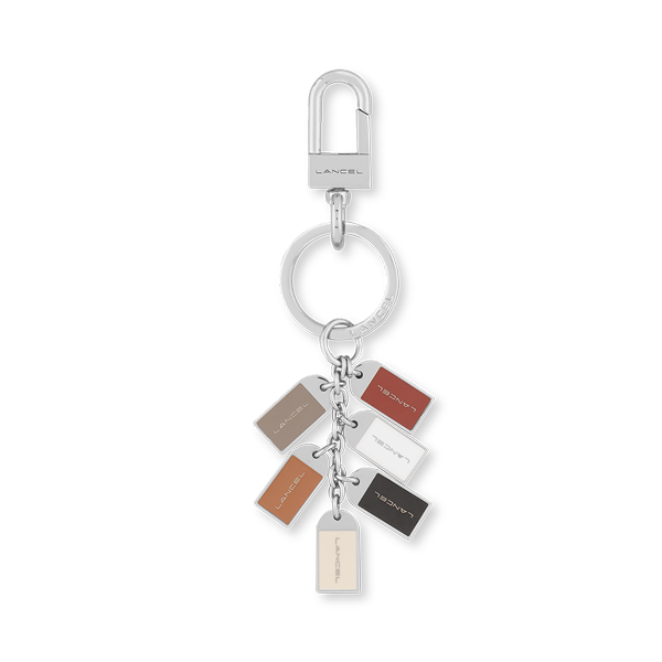 Lancel Key Ring BURGUNDY