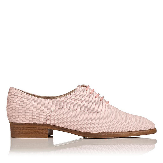 L.K.Bennett Elga Lace-Up Brogue PINK - BALLERINA