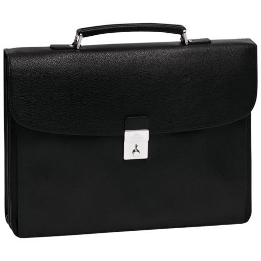 Longchamp Veau Foulonne Briefcase Black/nickelled