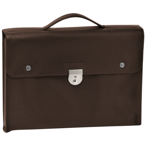 Longchamp Veau Foulonne Document holder Mocha