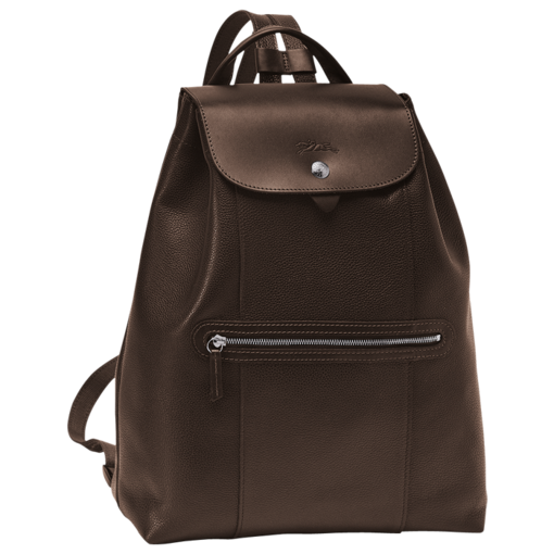 Longchamp Veau Foulonne Backpack Mocha
