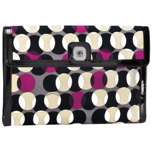 Longchamp Pois Clutch bag Fuchsia
