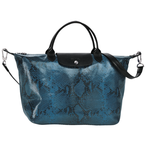 Longchamp Le Pliage Python Hand-held bag Blue Ceder