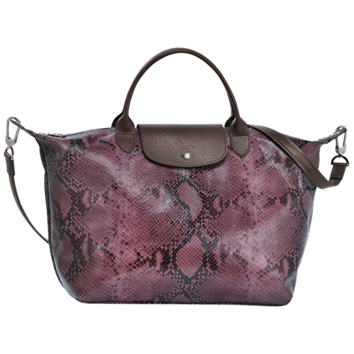 Longchamp Le Pliage Python Hand-held bag Lilac