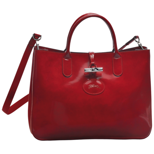 Longchamp Roseau Box Tote bag M Carmine