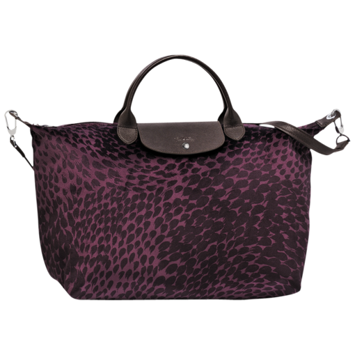 Longchamp Le Pliage Plumes Hand-held bag Bilberry