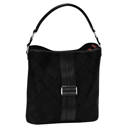 Longchamp LM Jacquard Hobo bag Black