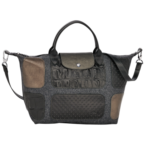 Longchamp Le Pliage Patch Exotic Handbag Grey