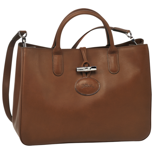 Longchamp Roseau Heritage Tote bag M Brown