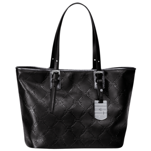Longchamp LM Cuir Shopping bag S Black/nickelled