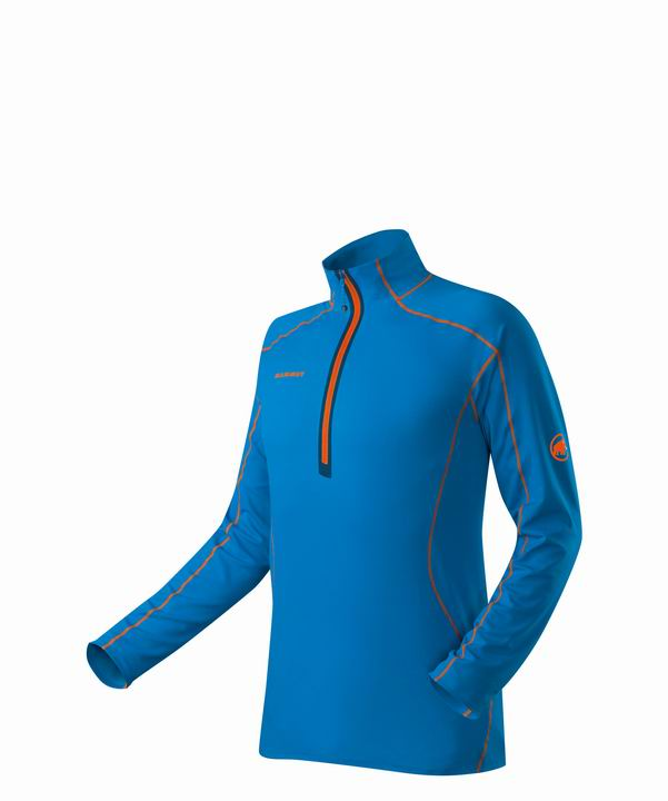 Mammut Men Moench Longsleeve cyan